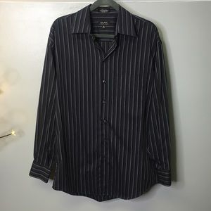Axcess Button Down Gradient Black and Grey Stripes